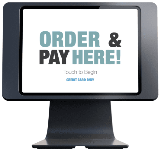 Order here and pay here kiosk